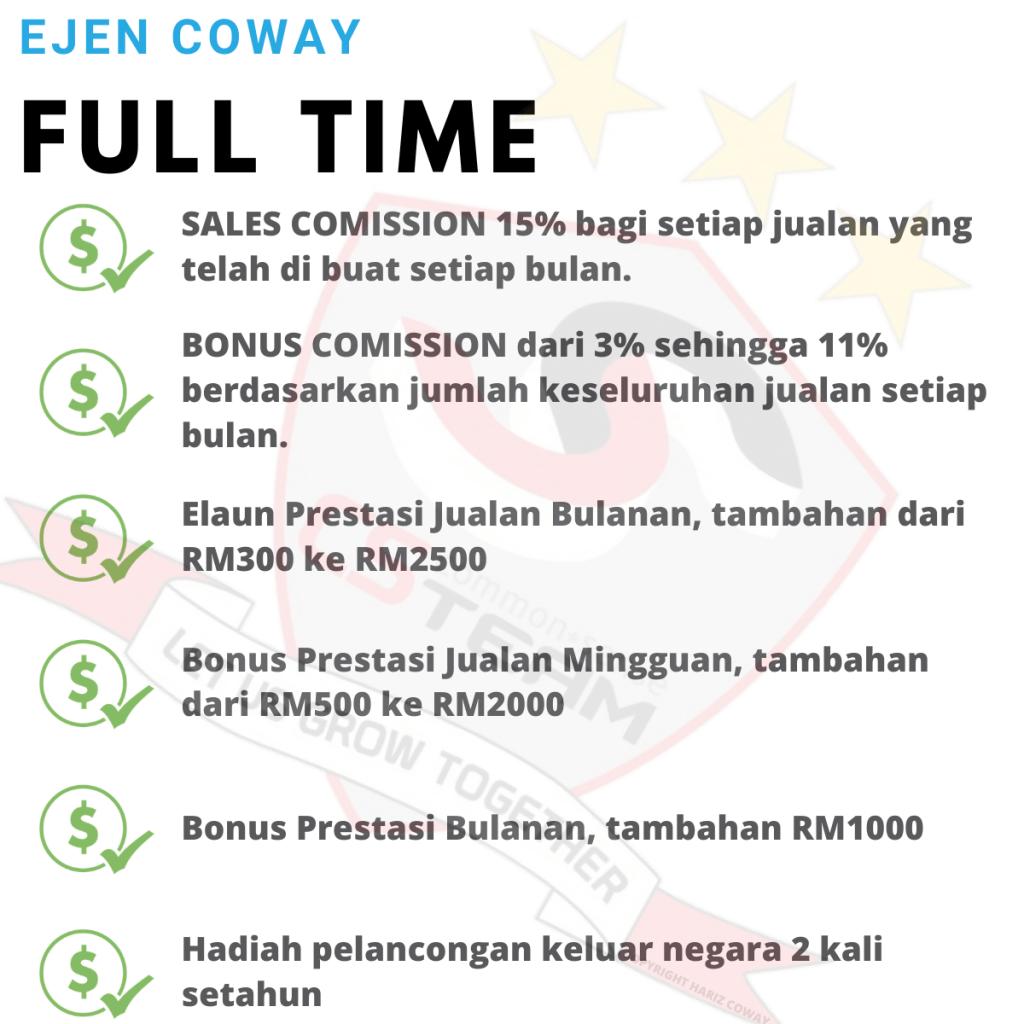 Komisyen Ejen Coway Malaysia Full Time